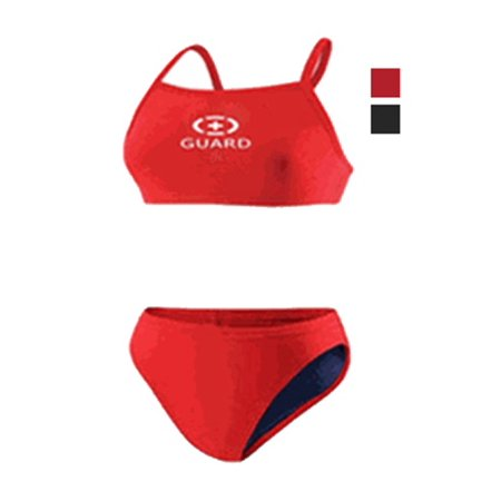 Women's Guard Two Piece Swimsuit-(FGN03)-Red-10