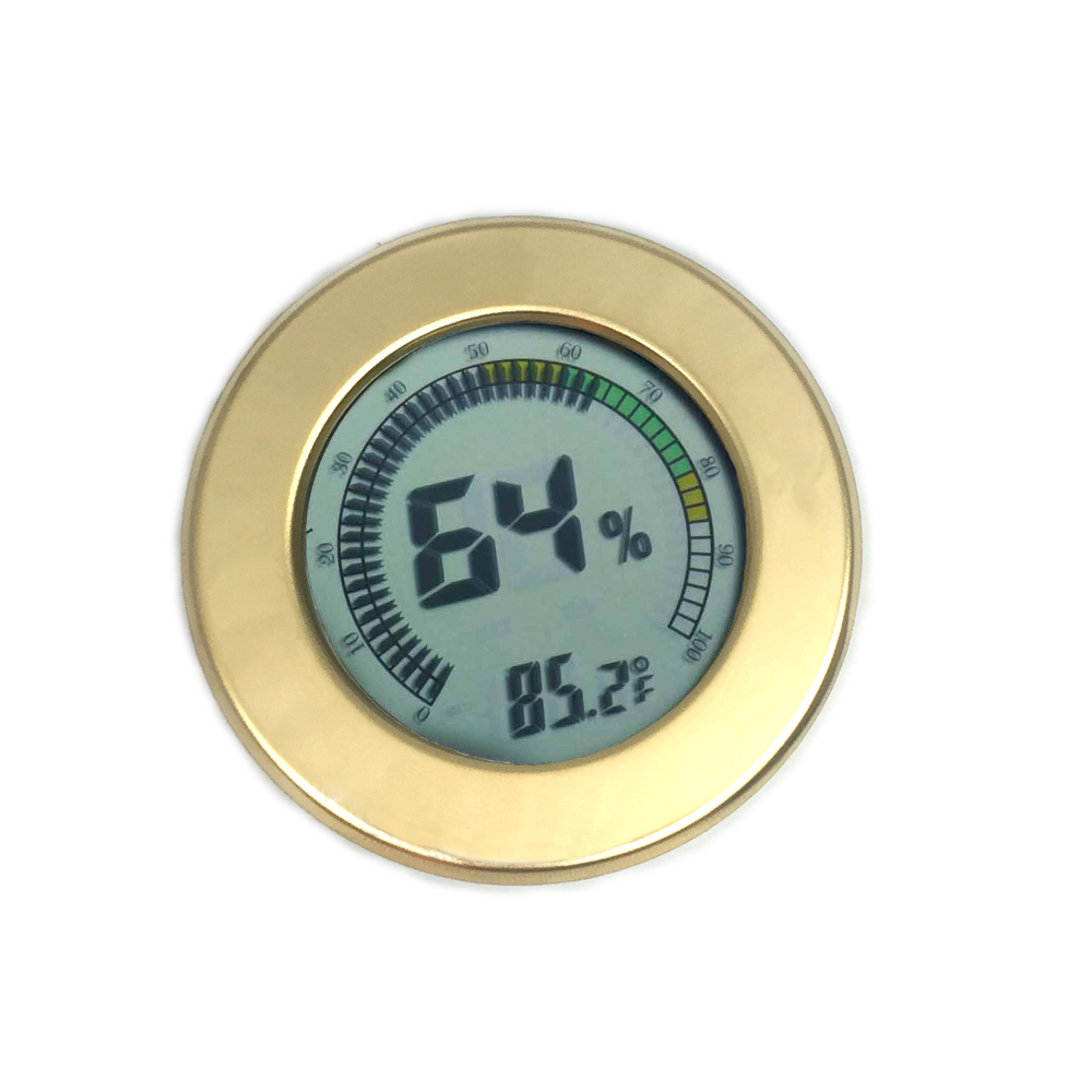 Visol Modern Circular Digital Hygrometer - Gold