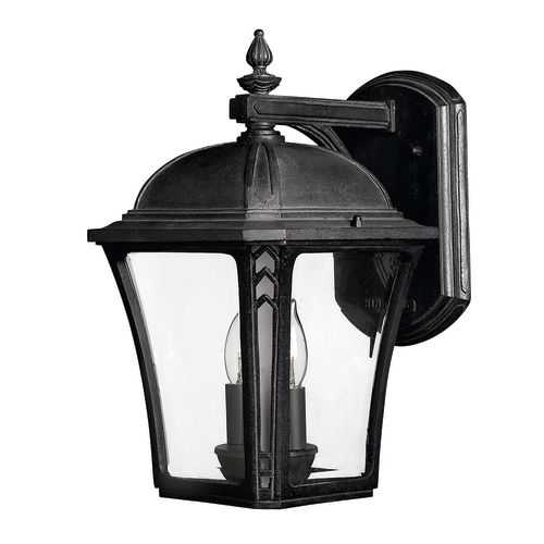 """Hinkley Lighting H1334 13.75"""" Height 2-Light Lantern Outdoor Wall Sconce from the Wabash Collection"""
