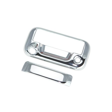 - 08-14 Ford F250/F350 Superduty / 07-14 Ford F150 Chrome Tailgate Handle Cover W/ Keyhole & Camera Hole 07 08 09 10 11 12 13 14