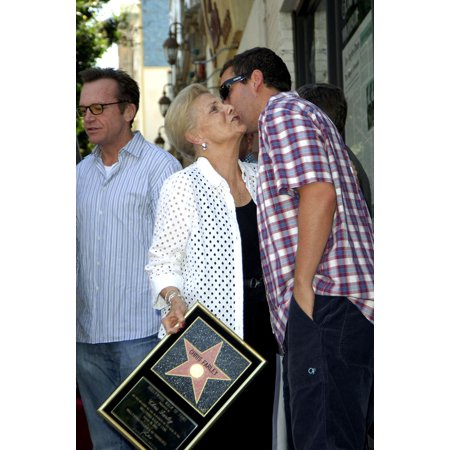 Mary Anne Farley Adam Sandler At The Press Conference For Hollywood Walk Of Fame Star Ceremony For Chris Farley Hollywood Los Angeles Ca August 26 2005 Photo By Michael GermanaEverett Collection
