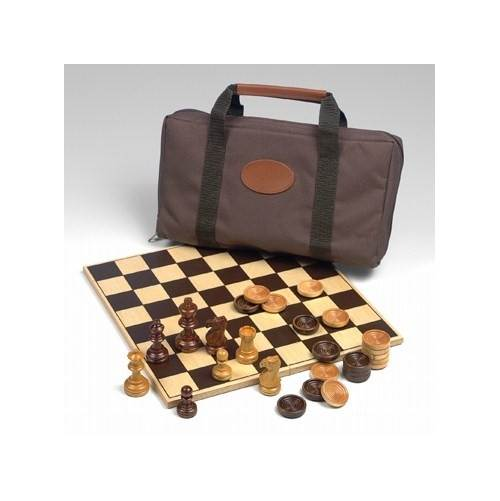 Drueke Travel Series Chess & Checkers Board