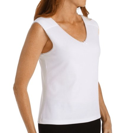 Cotton Reversible Camisole (Women's Shadowline 2451 Cool Cottons Camisole )