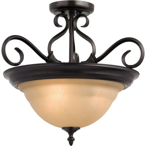 "Maxim 2652 3 Light 18.5"" Wide Semi-Flush Ceiling Fixture from the Pacific Collec"