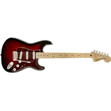 Fender Squier Standard Stratocaster Electric Guitar, Maple Fingerboard - Antique Burst