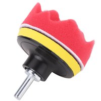 LHCER 12Pcs 3 Inch Sponge Buffing Polishing Pad Kit for Car Polisher with Drill Adapter, Buffing Pad, Car Polishing Pads