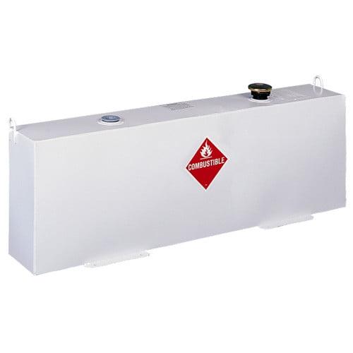 Delta 486000 37 Gallon Vertical Steel Liquid Transfer Tank White by Delta