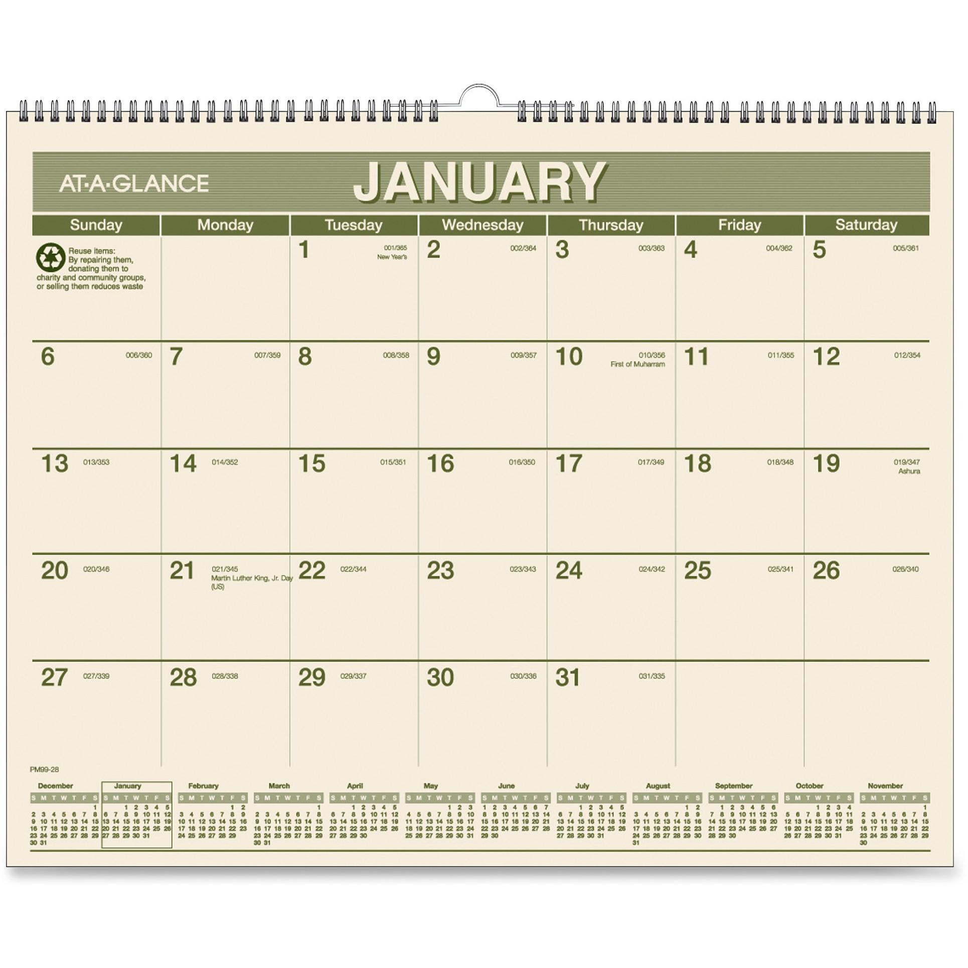 100% PCW Monthly Wall Calendar by ACCO Brands Corporation