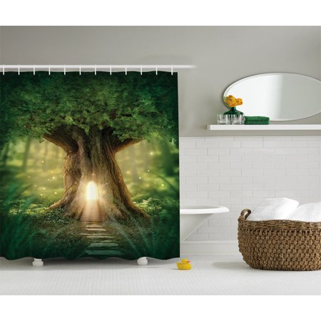 Fairy Tree Of Life Light In Rainforest Scene Polyester