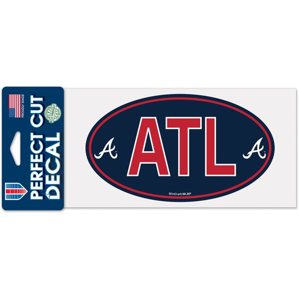 "Atlanta Braves WinCraft 4"" x 8"" Perfect Cut Decal"
