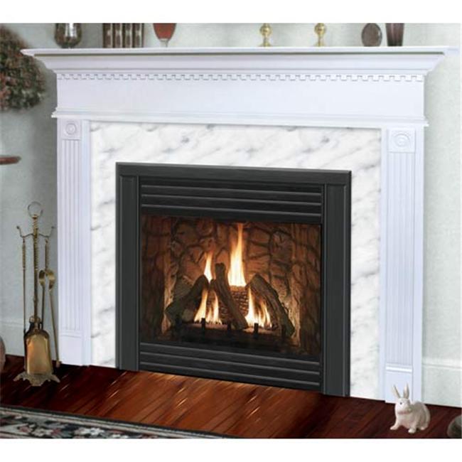 Sienna Flush Fireplace Mantel in Medium English Chestnut