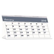 House of Doolittle Recycled Bar Harbor Desk Tent Monthly Calendar, 7 x 4 1/4, 2018