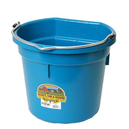DuraFlex Flat Back Bucket 20 Qt TEAL