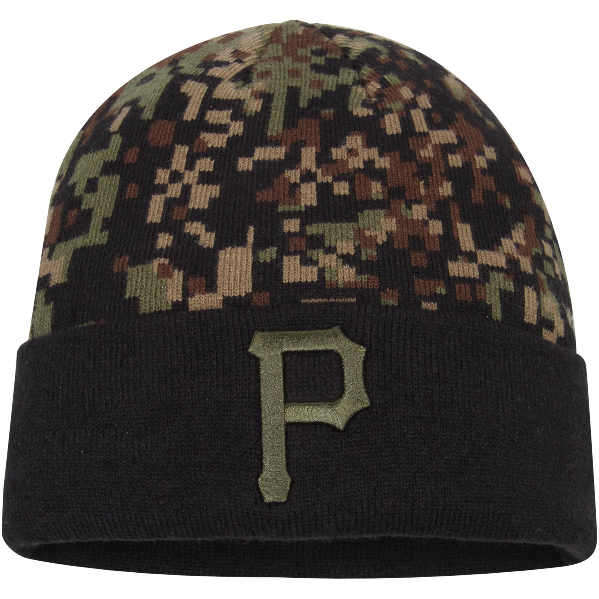 Pittsburgh Pirates New Era Print Play Knit Hat - Camo/Black - OSFA