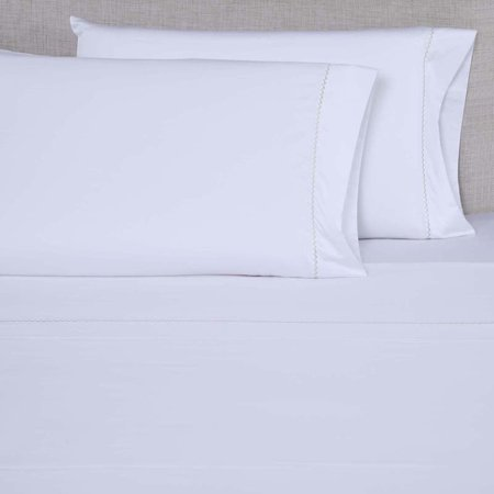Image of 600 Thread Count Embroidered Pillowcase Set by Affluence