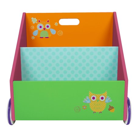Labebe Kid Bookshelf With Wheels Green Owl Wood For 1 Year Up