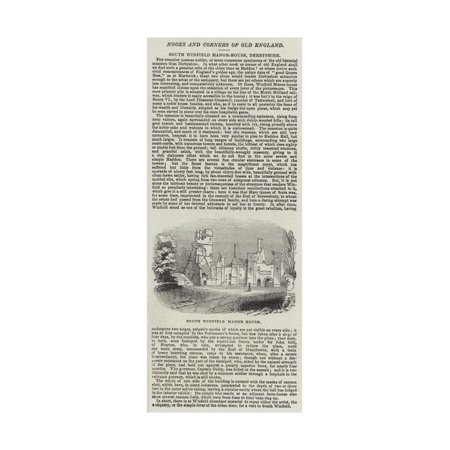 South Winfield Manor-House, Derbyshire Print Wall Art - Winfield Halloween