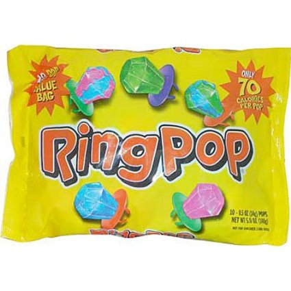 Ring Pop Value Pack, 0.5 Oz., 10 Count - Ring Pops