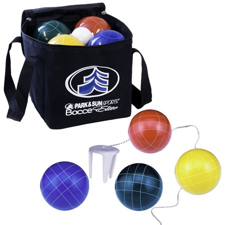 - Park & Sun Sports Bocce Elite Pro 109mm Set with Deluxe Carrying Bag | BB-109E