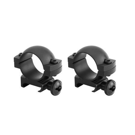 Tactical Forearm Rail - Monstrum Tactical 1 Scope Ring Set, Low Profile, with Picatinny/Weaver Rail Mount