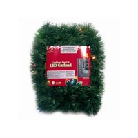 18' Pre-Lit Battery Operated Green Pine Christmas Garland - Multi-Color LED