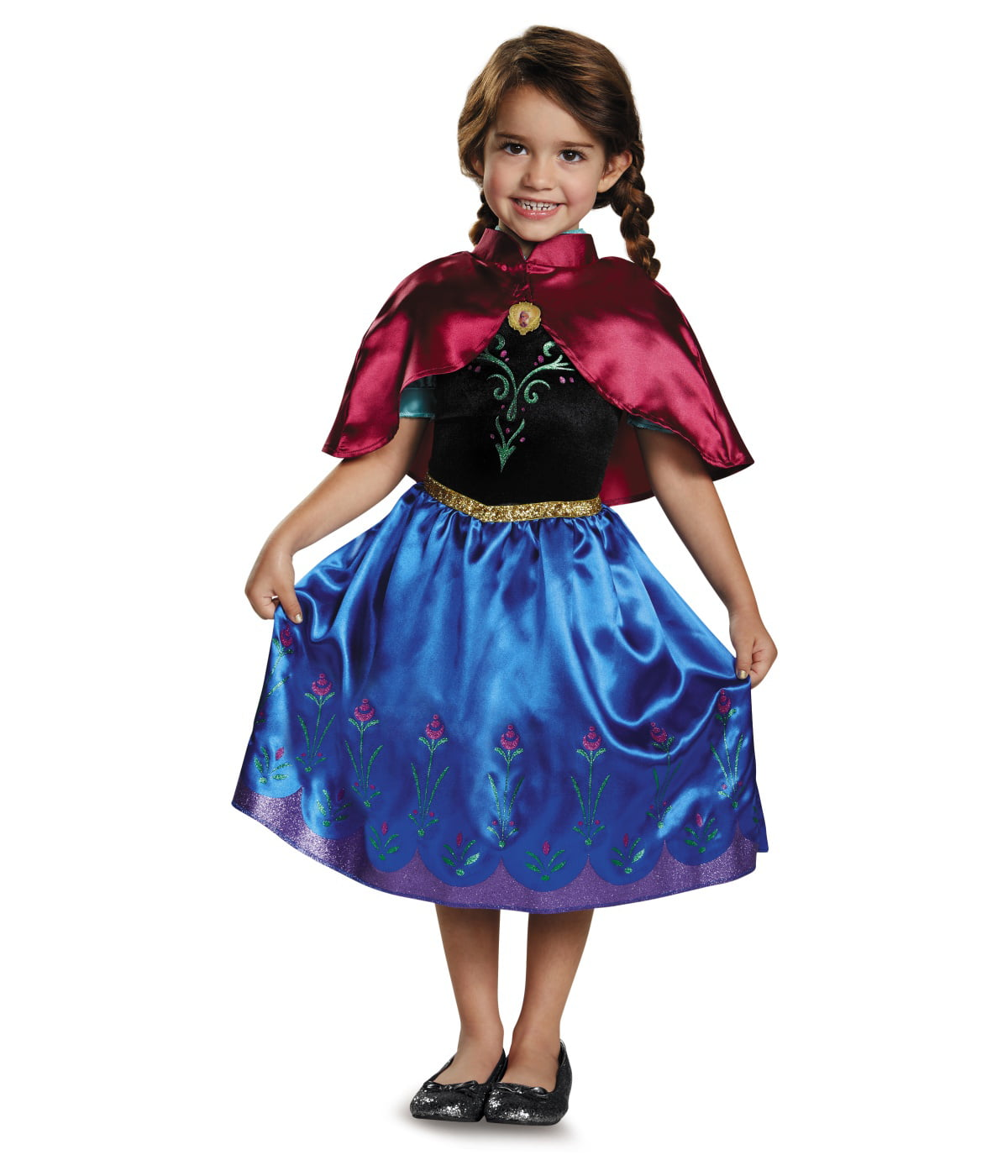 Frozen Anna Little Girls Disney Princess Costume Dress with Shawl - Walmart.com  sc 1 st  Walmart.com & Frozen Anna Little Girls Disney Princess Costume Dress with Shawl ...