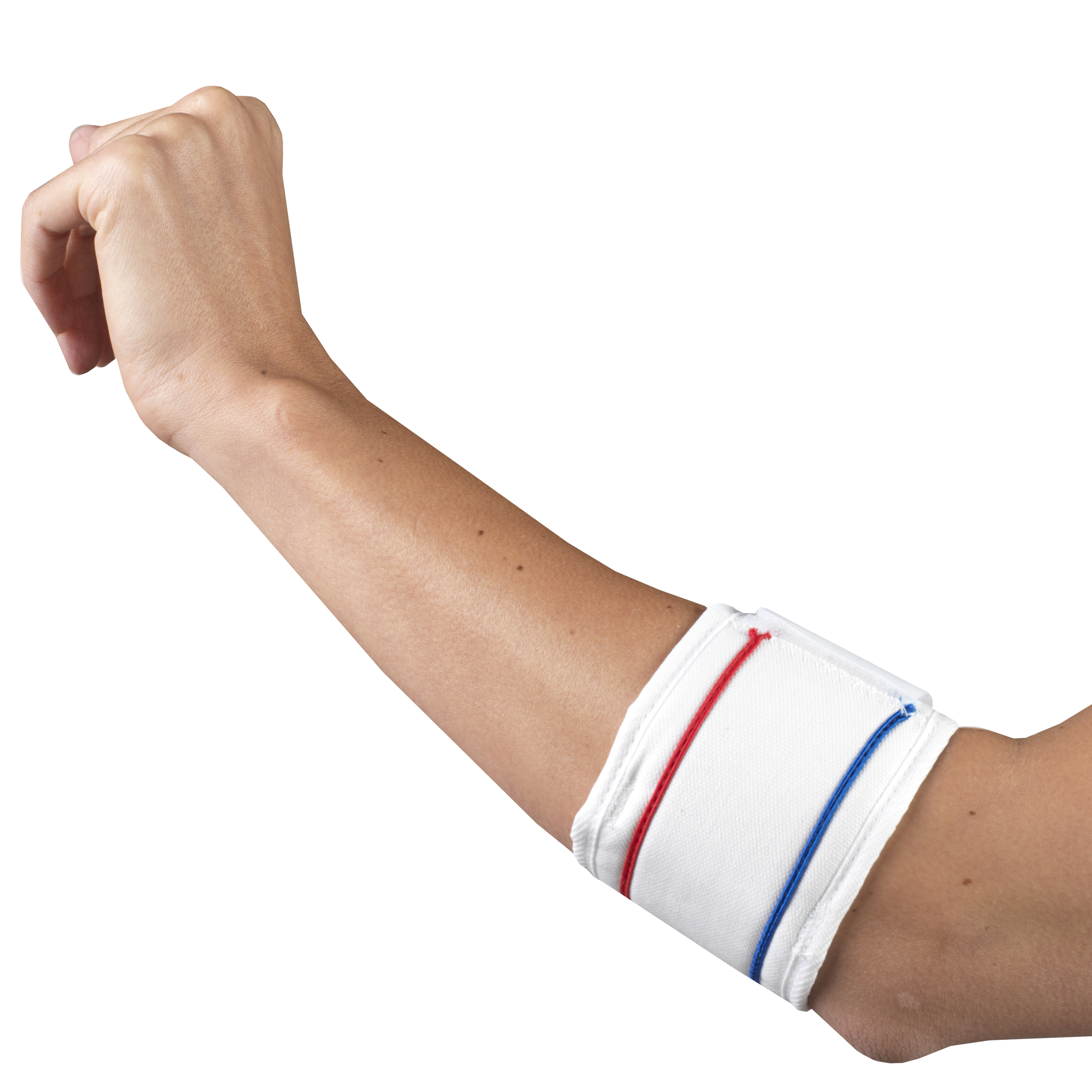 Champion Tennis Elbow Strap, White, Universal