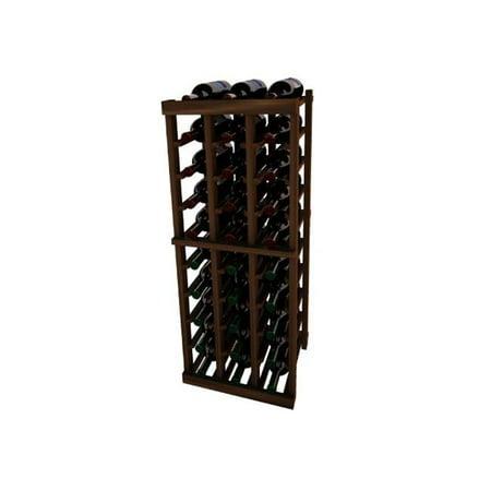 - Wine Cellar Innovation Premium Redwood Vintner Series 3 Column Individual Rack, Dark Walnut Stain - 3 ft.