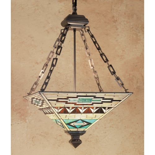 "Meyda Tiffany 47596 4 Light 17"" Wide Pendant with Handmade Shade by Meyda Tiffany"