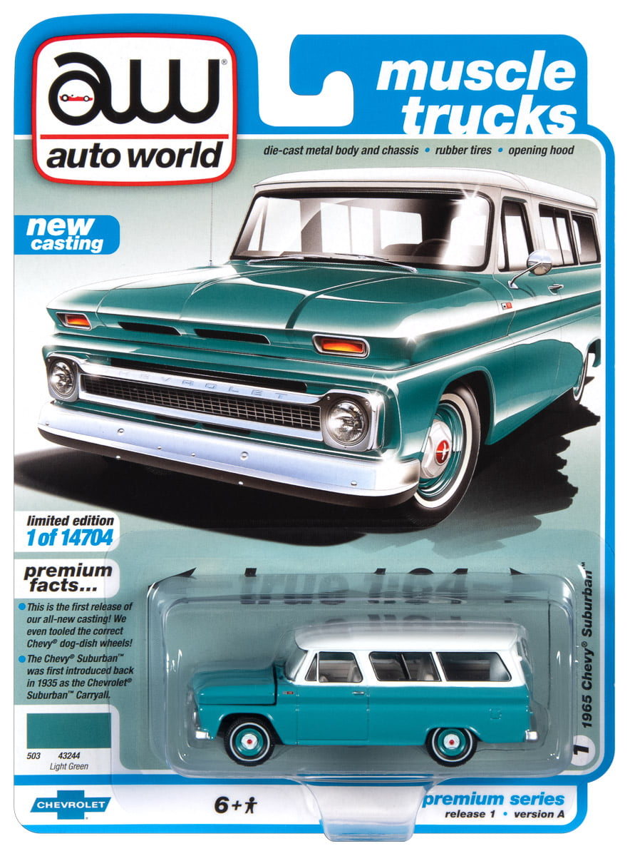 Auto World True 1:64 Scale Die-Cast Replica Vehicles (1 Vehicle per Package)  Colors and Styles May Vary