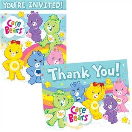 Care Bears Invitations and Thank You Notes w/ Env. (8ct ea.)