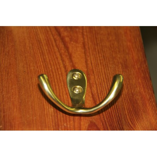 RCH Supply Company Brass Double Arm Wall Hook