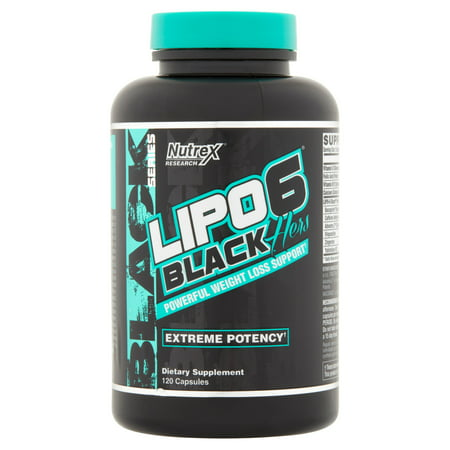 Nutrex Research Lipo 6 Black Series Black Hers Extreme Potency Weight Loss Ctules, 120 Ct (Lipo Chassis)