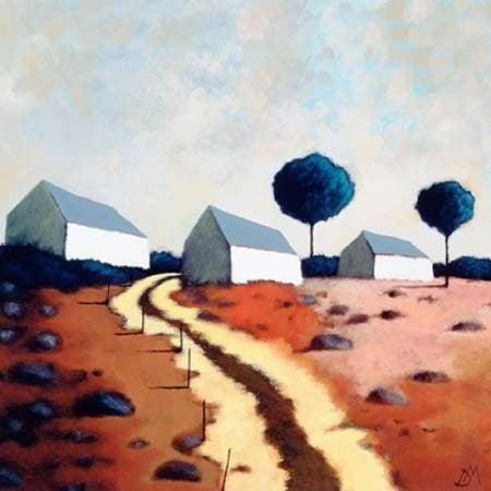 Hillside Path (Hillside Path Canvas Art - Derek Melville (24 x 24) )