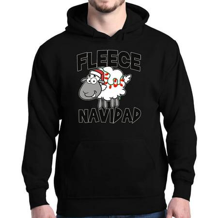 Screen Fleece Sweatshirts - Shop4Ever Men's Fleece Navidad Christmas Funny Ugly Xmas Hooded Sweatshirt Hoodie