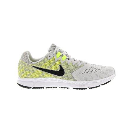 25523ffc02650 Nike Men s Zoom Span 2 Pure Platinum   Black - Wolf Grey Ankle-High Running  ...