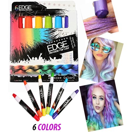 Chalk Rainbow Edge Stix Blendable Hair Color With Scents, 6 ...