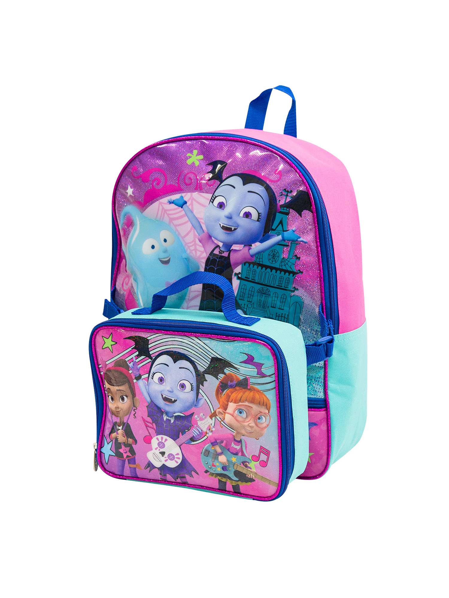 "Vampirina Backpack Set For Girls 8 Pc Deluxe 16/"" W Lunch Bag /& More BACKPACK"