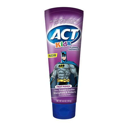 Loi sur les enfants Batman Fruit Punch Dentifrice Fluoride, 4.6 Oz