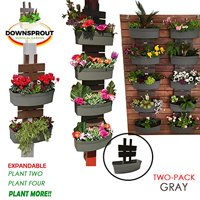 SmartSpring Vertical Gardening Kit for Pergola Posts, Downspouts, Decks, Mailboxes and More! (2-Pack Gray)