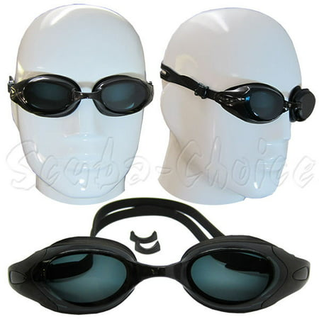 33b51d846b Black UV Nearsighted Prescription Corrective Optical RX Lenses Swimming  Goggles (-3.0) - Walmart.com
