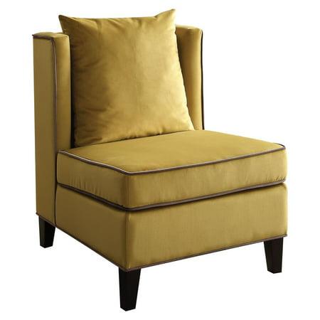 ACME Ozella Accent Chair, Yellow Velvet