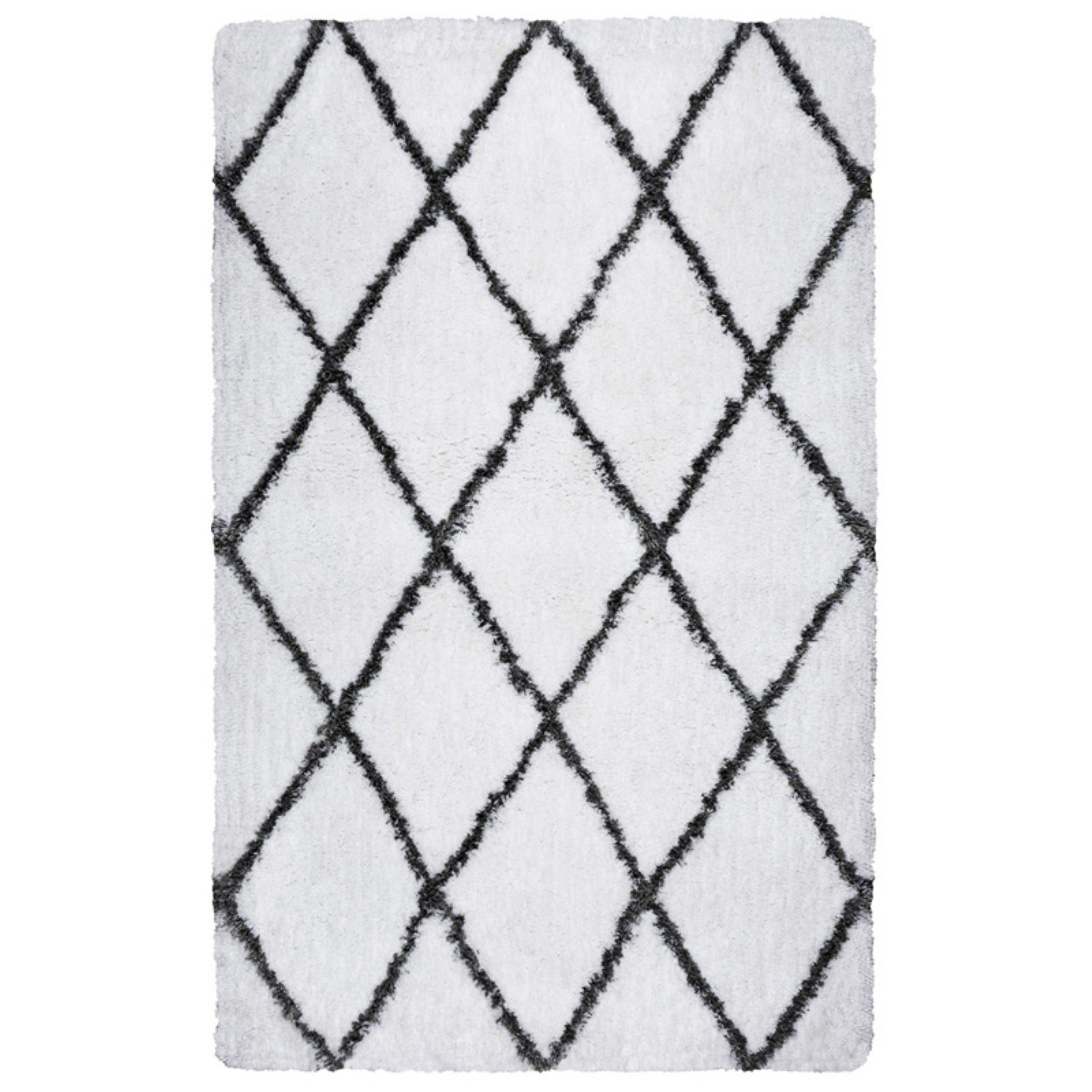 Rizzy Home Connex Cx002A White / Gray Area Rug 7 Feet 6 Inches X 9 Feet 6 Inches