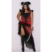 Plus Size Deluxe Striped Pirate Costume, Plus Size Pirate Costume