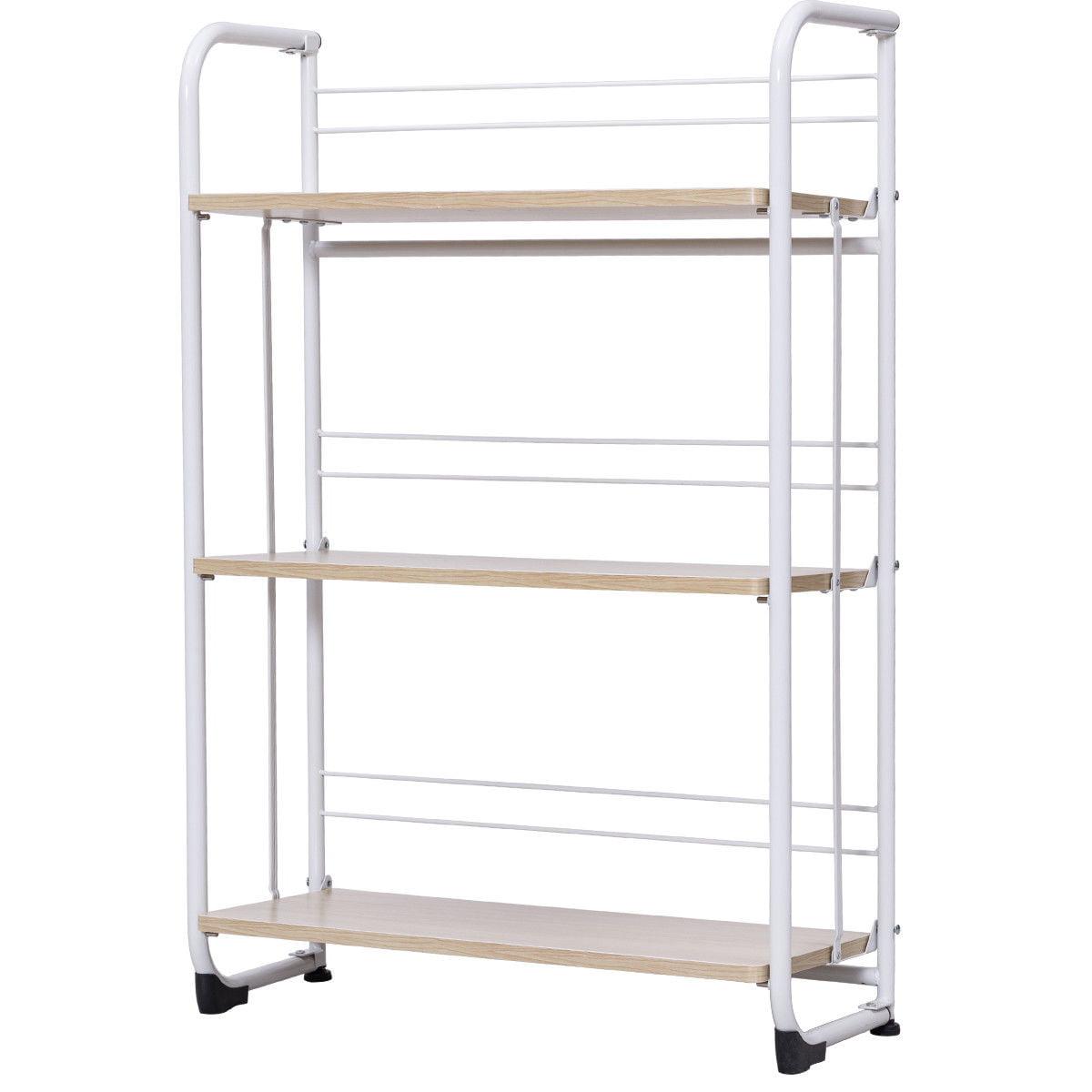 Gymax Folding 3 Tier Shelves Organization Storage Utility Shelving Unit Standing Rack - image 6 of 10