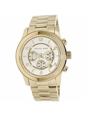 Michael Kors Men's Gold Oversized Runway Chronograph Watch MK8077
