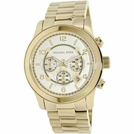 Michael Kors Men's Gold Oversized Runway Chronograph Watch MK8077 (Oversized Runway Watch)