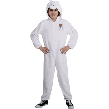 We Bare Bears Ice Bear Onesie Teen Costume (Care Bear Costumes For Teens)