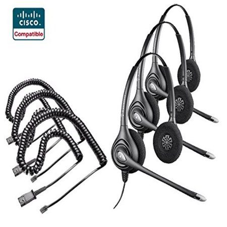 Plantronics 3x HW261N Headset 3x Adapter Cable Bundle for
