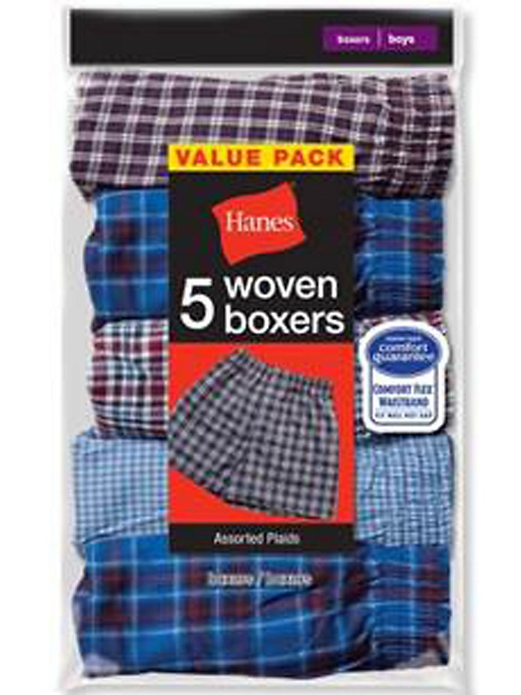 Men's 5 Pack Fashion Plaid Boxer